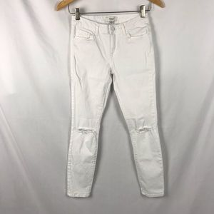 Forever 21 Classic White Ripped Jeggings Jeans 27
